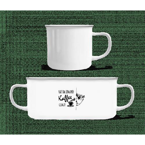 Kaffee Katze - Emaille-Tasse