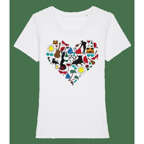 Herz Spanien - Frauen Premium Bio T-Shirt Stanley Stella