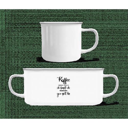 Kaffee Ist Pure Motivation - Emaille-Tasse