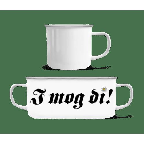 I Mog Di - Emaille-Tasse