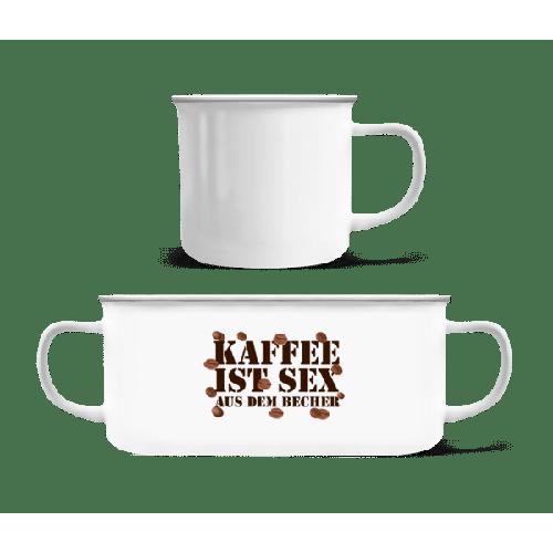 Kaffee Ist Sex - Emaille-Tasse