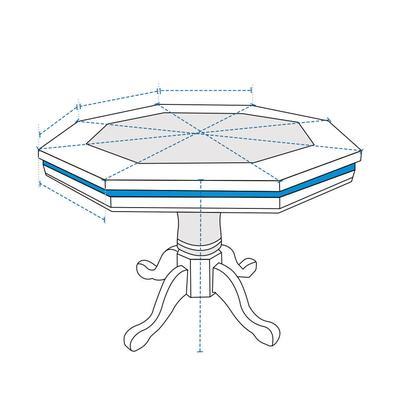 Custom Poker Table Cover - Octagonal