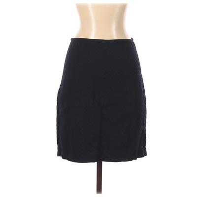 DKNY Casual Skirt: Blue Solid Bottoms - Size 4