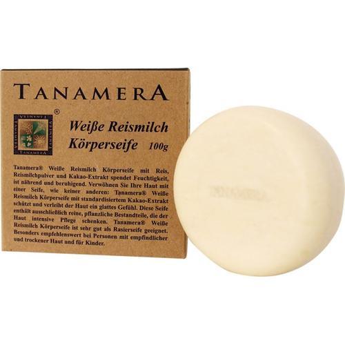 Tanamera Weiße Reismilch Körperseife 100 g Stückseife