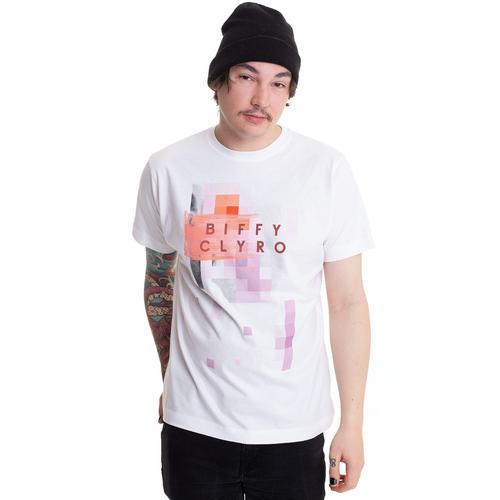 Biffy Clyro - Multi Pixel White - - T-Shirts