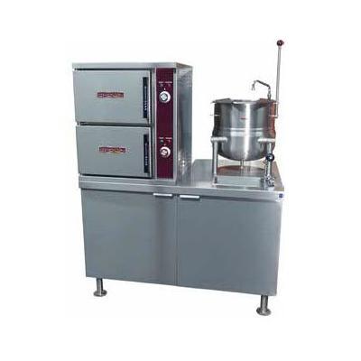 Crown Steam DCX-2-10 (6) Pan / (1) Kettle Convection Steamer - Cabinet, Direct Steam