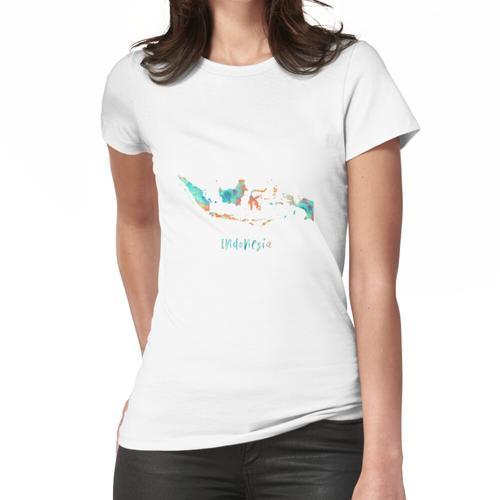Indonesien Karte, Indonesien Frauen T-Shirt