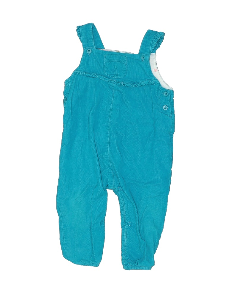John Lewis Girl Overalls: Blue Solid Bottoms - Size 9-12 Month