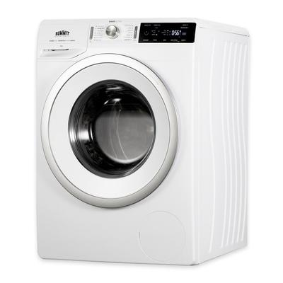 Summit SLW241W 2.3 cu ft Front Load Washer w/ Glass Window - 14 Settings, 208-240v/1ph, White