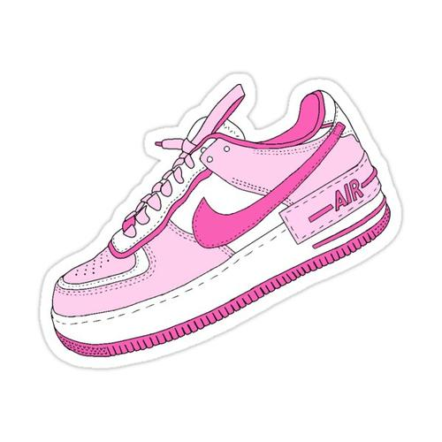 Pink and White Sneaker Sticker