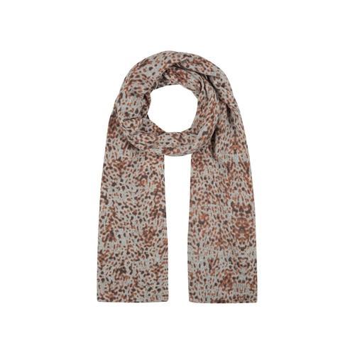 Premium Leo-Schal mit Wolle und Kaschmir Codello grey