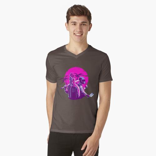 Jacke und Biker t-shirt:vneck