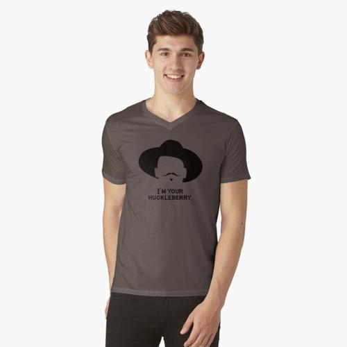 Grabstein: Ich bin dein Huckleberry 2 t-shirt:vneck
