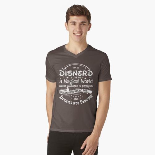 Ich bin ein Disnerd t-shirt:vneck