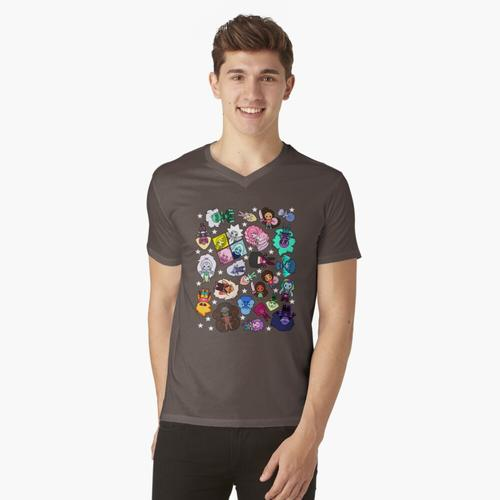 Kristalledelsteine t-shirt:vneck