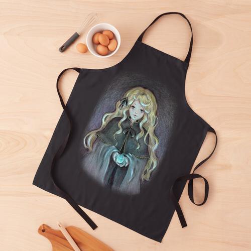 Blonde Hexe mit leuchtendem Kristall Schürze