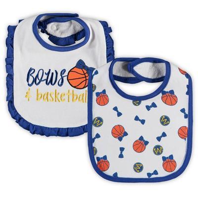Golden State Warriors Infant 2-Pack Fashion Bibs Set