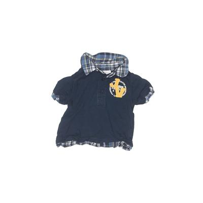 Koala Kids - Koala Kids Short Sleeve Polo Shirt: Blue Solid Tops - Size 0-3 Month