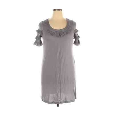 Juicy Couture Casual Dress - Mini: Gray Solid Dresses - Used - Size X-Large