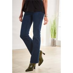Women The Ultimate Denim Pull-On Bootcut Jeans by Soft Surroundings, in Nightfall Wash size 1X (18-20)