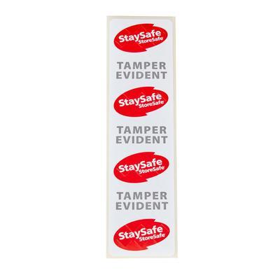 """Cambro 26SSTELB6250 StaySafe Tamper Evident Labels - 1 1/2"""" x 6"""""""