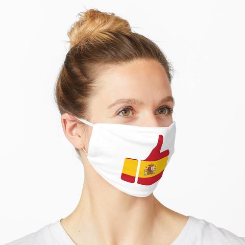Fahnen-Daumen von Spanien Maske