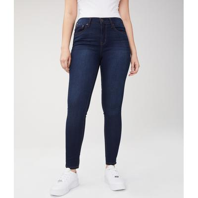 Aeropostale Girls' Seriously Stretchy High-Rise Jegging - Blue - Size 000 S - Cotton