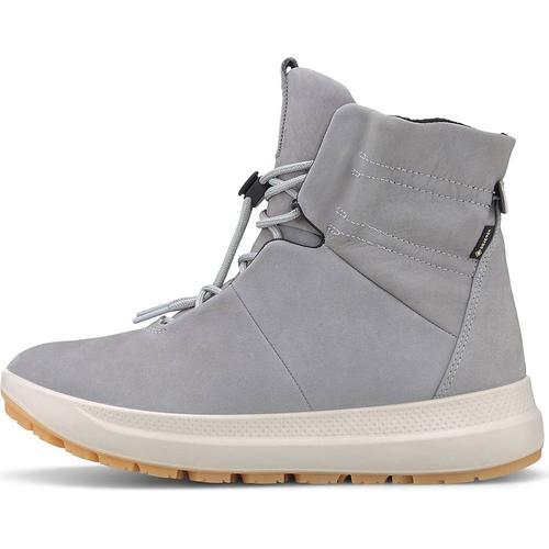 Ecco, Schnür-Boots Solice in hellgrau, Boots für Damen Gr. 39