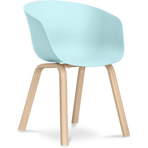 Hey Chair Skandinavisches Design - Mattes Pastellblau