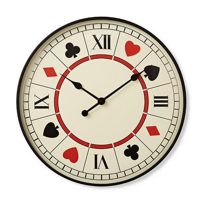 Playing Card Clock - Frontgate