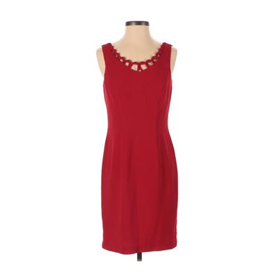 CDC Evening Cocktail Dress - Sheath: Red Solid Dresses - Used - Size 4