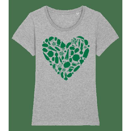 Vegetarisches Herz - Frauen Premium Bio T-Shirt Stanley Stella