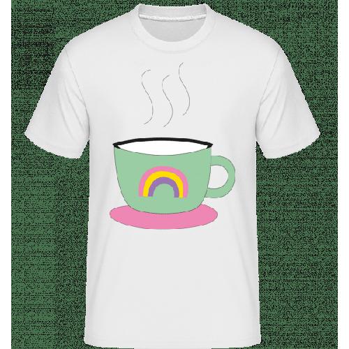 Regenbogen Kaffee Tasse - Shirtinator Männer T-Shirt