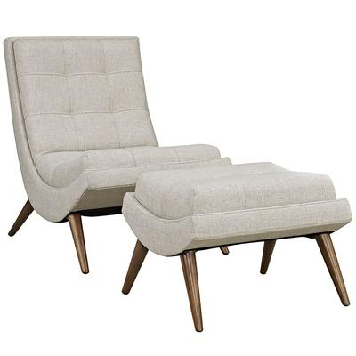Ramp Fabric Lounge Chair Set in Sand - East End Imports EEI-2143-SAN