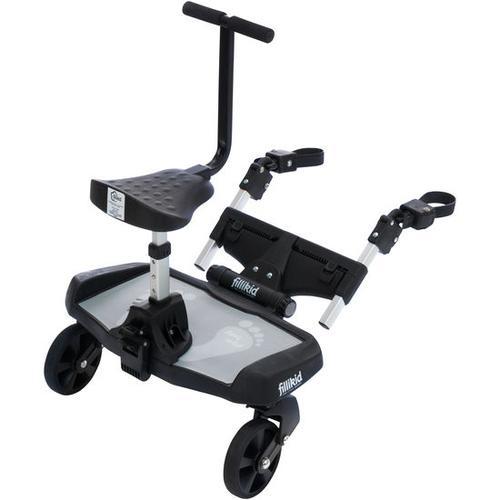 Buggyboard mit Zusatzsitz, grau