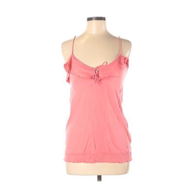American Eagle Outfitters Sleeveless Top Pink Solid Plunge Tops - Used - Size Medium