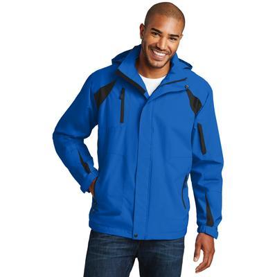 Port Authority J304 All-Season II Jacket in Snorkel Blue/Black size 2XL   Fleece