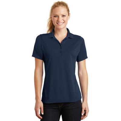Sport-Tek L475 Women's Dry Zone Raglan Accent Polo Shirt in True Navy Blue size Small | Polyester
