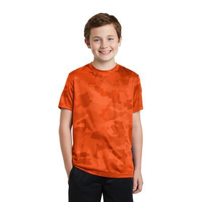 Sport-Tek YST370 Youth CamoHex Top in Neon Orange size XL   Polyester