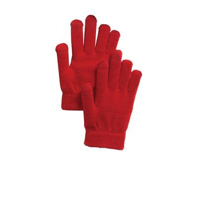 Sport-Tek STA01 Spectator Gloves in True Red size Large/XL | Polyester Blend