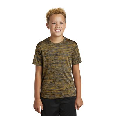 Sport-Tek YST390 Youth PosiCharge Electric Heather Top in Gold-Black size XL   Polyester