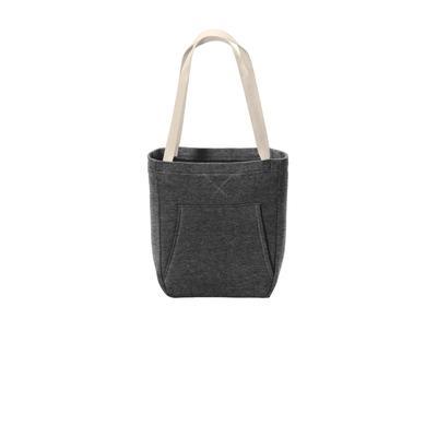 Port & Company BG415 Core Fleece Sweatshirt Tote Bag in Dark Heather Grey size OSFA   Polyester Blend
