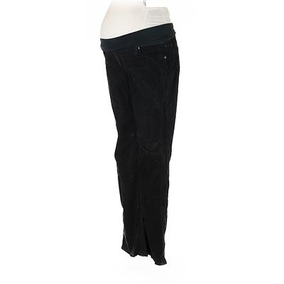 A Pea in the Pod Cord Pant: Black Solid Bottoms - Size 32 Maternity