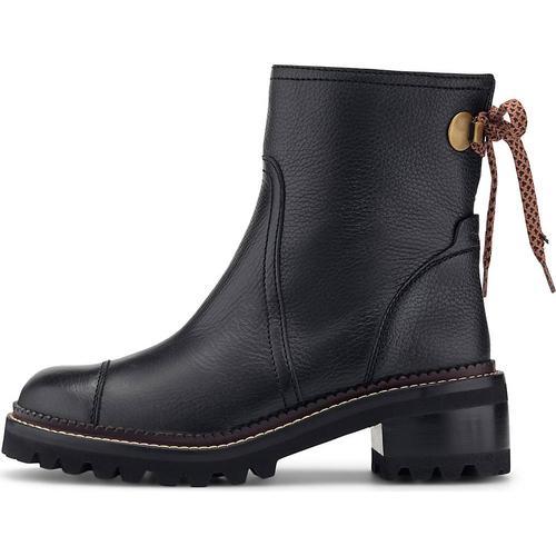 See by Chloé, Luxus-Stiefelette in schwarz, Boots für Damen Gr. 37