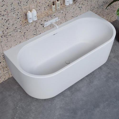 Riho Valor back2wall Vorwand-Badewanne mit Verkleidung L: 180 B: 84 H: 56 cm BS72005
