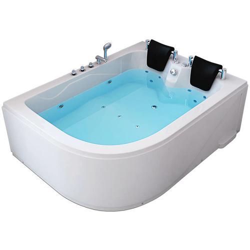 Home Deluxe - Whirlpool Badewanne Blue Ocean XL - 180 x 120 cm links, weiß | Whirlwanne, Pool, für