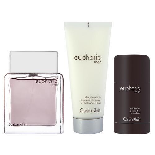 Calvin Klein Euphoria Men EDT Geschenkset EDT 100 ml + EDT 15 ml + 100 ml After shave balm
