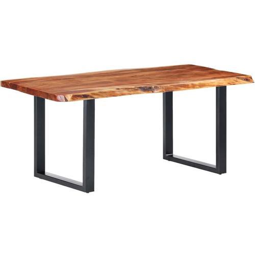 Esstisch mit Baumkanten Akazie Masivholz 200cm 6cm Modell 2