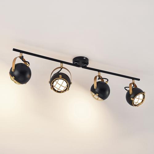Lindby Dawid LED-Deckenleuchte, Golddekor, 4-fl.