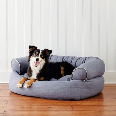 Comfy Couch Pet Bed - Platinum Micro-velvet, Large (45 to 80 lbs.) - Frontgate